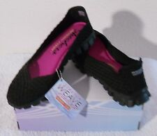 NIB Skechers EZ Flex 2 Yes Please Womens Slip-On Flats Shoes 7 Black MSRP$65
