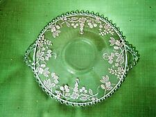 ELEGANT CANDLEWICK DOUBLE HANDLED SERVING PLATE STERLING SILVER OVERLAY 12""