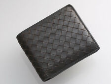 G7021 Authentic BOTTEGA VENETA Intrecciato Genuine Leather Bifold Wallet