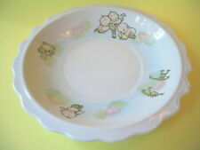 CUPIE DOLL MERMAIDS PAINTED ON A PLATE WITH FROGS A DUCK AND FLOWERS