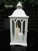 BEAUTIFUL QUALITY ANTIQUE WHITE LARGE GOTHIC LANTERN VINTAGE SHABBY CHIC NEW
