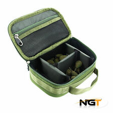 New NGT 3 Way Rigid Lead Bag With Dividers Carp Fishing Lead Bag