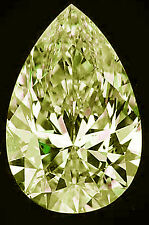 1.71 ct SI3/OFF WHITE YELLOW LOOSE PEAR REAL MOISSANITE FOR RING/PENDANT