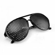 Black Eyesight Improvement Improve Vision Care Exercise Eyewear Pinhole Glasses