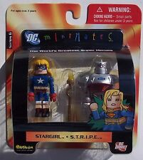 DC DIRECT MINIMATES STARGIRL & S.T.R.I.P.E. 2 PACK. NEW ON CARD. 2 INCHES.