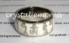 FENG SHUI - SIZE 7 WHITE NAMGYLMA MANTRA RING