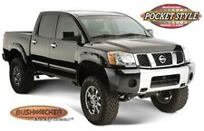 Bushwacker 70908-02 04 Front & Rear Black Pocket Style Fender Flares for Titan
