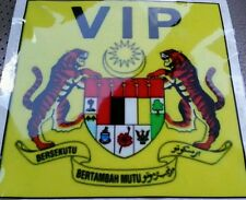 Malaysia VIP VVIP Yellow Windscreen Sticker