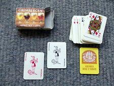 Boek miniatuur speelkaarten met 2 leuke jokers - Grimbergen bier