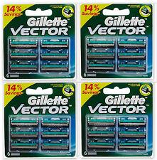 Gillette Vector Cartridges 24 pcs Blades Fits Contour Atra Plus Refills