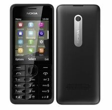 "Nokia 301 Facebook 256MB 3.2MP 2.4"" Bar 1200mAh Black T-Mobile Mobile Phone"