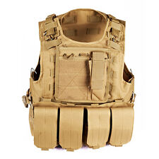 Tactical Police Military Swat Assault Utility Vest Detachable Tactical Military