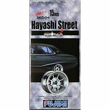 FUJIMI - Hayashi Street 15inch Wheel and Tire Set 1/24 Model Kit - TW-7