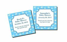 20 Personalized Baby Shower Boy Umbrella Favor Labels Stickers Glossy
