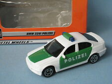 Matchbox BMW 3 Series 323i Police Car Polizei White and Green Toy Model Car