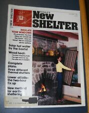 RODALE'S NEW SHELTER MAGAZINE OCT 1980 THERMAL SHUTTERS PLANS SOLAR HOT WATER