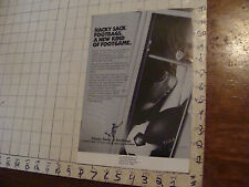 VINTAGE hacky sack paper: mini poster of ad for KENNCORP HACKY SACK