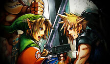 E929 Free Mat Bag Zelda VS Cloud Playmat Yugioh MTG Vanguard Large Mouse Pad