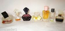 Vtg 7 MINIATURE PERFUMES LOT Wh Shoulders Chloe Intuition Bogart Le Byou Nuit ++