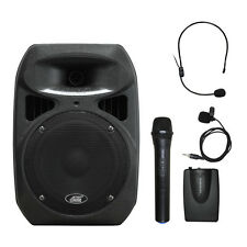 "6406BHL 8"" Spraker Dual Channel Battery Powered Wireless Portable PA System"