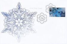 Finland 2016 FDC - Beautiful Hologram Snow Ice Crystal Stamp - Jan 22, 2016