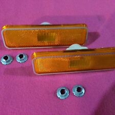 72 73 74 Dodge Charger Roadrunner Satellite Side Marker Lights Front w Nuts NEW