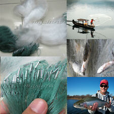 30M x 1.2M Clear Green White Fishing Fish Mesh Trap Monofilament Nylon Gill Net
