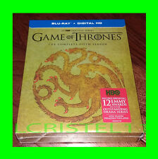 Game of Thrones THE COMPLETE FIFTH SEASON 5th Blu-Ray Targaryen Cover VERY RARE!