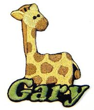 Iron-on Giraffe Patch With Name Personalized Free