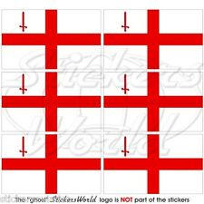 City of LONDON St George's Flag England Mobile Cell Phone Mini Sticker, Decal x6