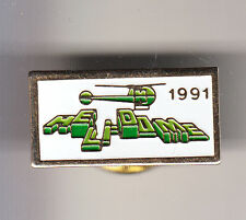 RARE PINS PIN'S .. AVION HELICOPTERE HELICOPTER HELIDOME PROTECTION 1991 ~B8
