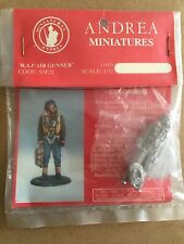 Andrea 1/32nd WW2 British Royal Air Force RAF Air Gunner 1943 Metal Figurine