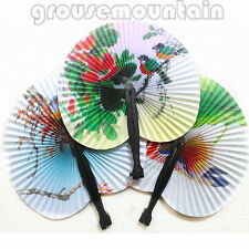 3X Retro Oriental Hand Held Folding Paper Fans Wedding Favor Ideal Gifts GRO