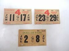 3 San Diego Electric Railway Co Adv. Passes Tickets Standard Furniture Co. 1934