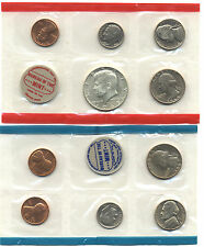 1969 US Mint Set 10 BU coins w/ 40% Silver Kennedy