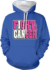 I Can Fight Cancer Pink Ribbon Breast Cancer Awareness 2-tone Hoodie Pullover