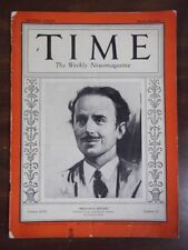 "Vintage Time Magazine March 16,1931 ""Britan's Hitler"" cover"