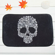 Home Decor Black Skull Area Rug Carpet Bathroom Floor Mat Dining Room 40*60cm O
