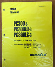 KOMATSU PC300-3 PC300LC-3 PC360LC-3 Excavator Shop Manual / Repair Service
