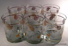 Mid Century Modern M W Periscope Six Old Fashion Highball Glasses Angel Musician