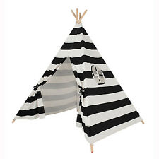 Black & White Striped Children's Teepee / Wigwam / Play Tent / Play House, Baby