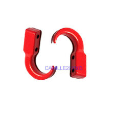 2pcs Metal 1:10 RC Car Rock Crawler Accessory Hook Red Upgrade Part