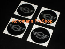 "4x 2"" 5.1cm 51mm Mini Cooper logo cap decal sticker center hub rim JCW clubman S"