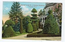 Grounds of W J Pendray Residence, Victoria, BC, Topiary, c.1915