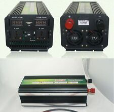 DC 12V To AC 220V LED display 3000W 6000W(peak)Power Inverter USB Converter