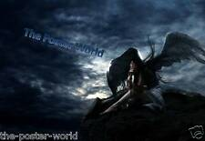 Gothic Angel Waiting for the Storm to Pass Picture Poster Gift Home Art Print