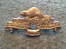 WW I Canada CEF 29th BN Vancouver Regiment 1st BN Brass Collar Scully Marked !