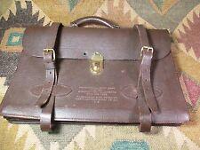 NEW Vintage USAF MB-1 Brown Leather Navigational Briefcase