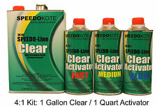 Clear Coat 2K Acrylic Urethane, SMR-1150/1101-Q 4:1 Gallon Clearcoat Fast Kit