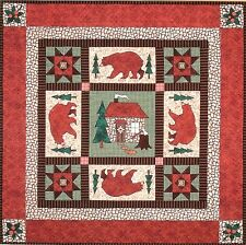 """~ NEW PATTERN ~ FUSIBLE APPLIQUE  ~ 30½""""x30½"""" GOT BEARS? WALL QUILT~"""